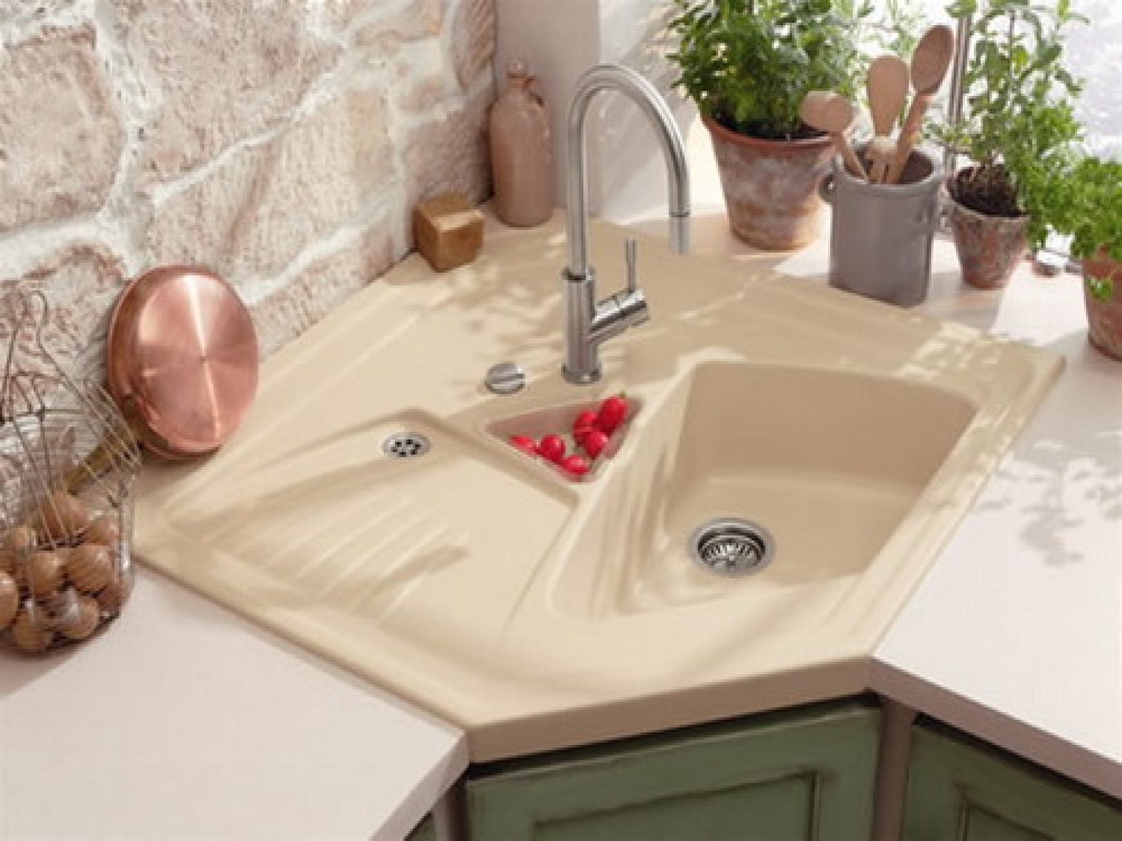 Lovely Corner Kitchen Sinks To Appeal Your Attention Tasty Food Ideas