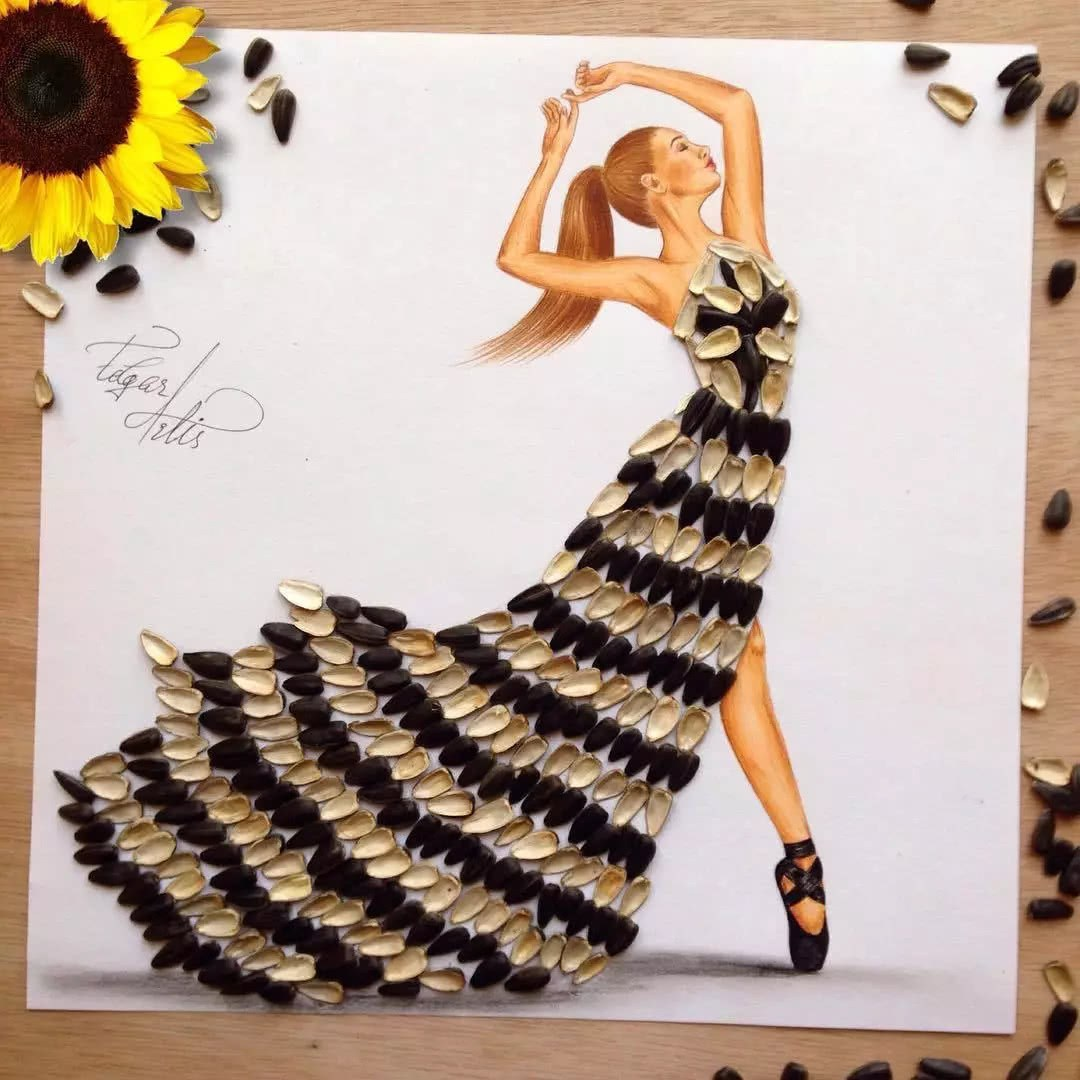 Fashion Designer Makes Art Of Food Dresses Tasty Food Ideas